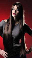Dark Brown Extra Long Wig