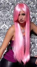 Cotton Candy Pink Extra Long Straight Wig