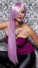 Light Purple Extra Long Straight Wig