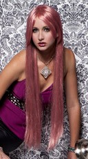 Soft Pink Extra Long Straight Wig