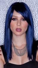 Midnight Blue Straight Wig