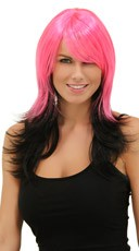 Hot Pink Night Layered Wig
