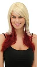 Vanilla Maroon Layered Wig