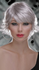 Chrome Choppy Layers Wig