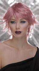 Light Pink Choppy Layers Wig