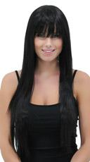 Deep Onyx Straight Layered Wig