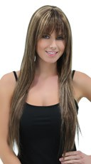 Rich Almond Straight Layered Wig