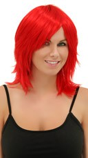Fire Engine Red Rocker Layers Wig
