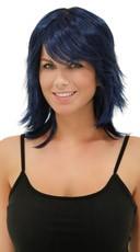 Midnight Blue Rocker Layers Wig