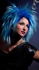 Blue Haze Punk Wig