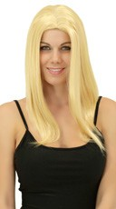 Apricot Blonde Medium Length Straight Wig