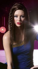 Rich Chocolate Medium Length Straight Wig