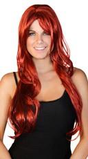 Deluxe Long Dark Red Wig