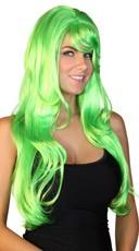Deluxe Long Neon Green Wig