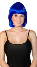 Deluxe Bobbed Dark Blue Wig