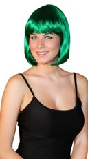 Deluxe Bobbed Emerald Green Wig