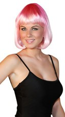 Deluxe Bobbed Flamingo Pink Wig