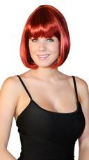 Deluxe Bobbed Dark Red Wig