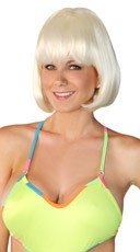Deluxe White Bobbed Wig