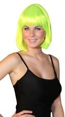 Deluxe Bobbed Neon Green Wig
