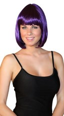 Deluxe Bobbed Purple Wig