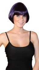 Deluxe Black Cherry Mini Bob Wig