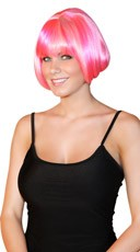 Deluxe Bubble Gum Mini Bob Wig