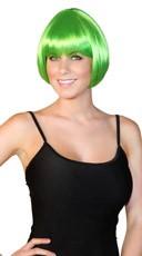 Deluxe Green Mini Bob Wig