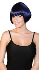 Deluxe Midnight Blue Mini Bob Wig