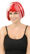 Red Glow In The Dark Mini Bobbed Wig