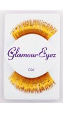 Long Gold Eyelashes