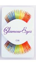 Rainbow with Gold Eyelashes