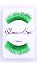 Metallic Green Eyelashes