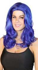 Bouncy Dark Blue Wig