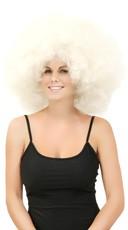 Big White Jumbo Afro Wig
