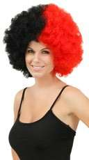 Red and Black Two Tone Afro Wig