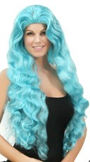Wavy Light Blue Wig