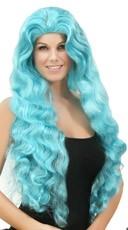 Wavy Light Blue Wig