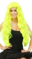 Wavy Neon Green Wig