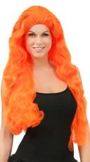 Wavy Neon Orange Wig
