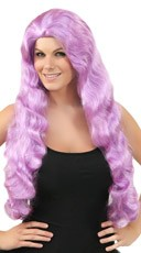 Wavy Pale Purple Wig