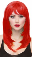 Firecracker Mistress Wig with Bangs