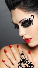 Black Sassy Swirls Mask