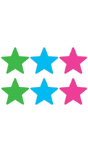 Colorful Star Pasties