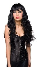 Missy Black Long Curly Wig