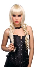Blonde Curled Gothica Wig