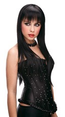 Amber Black Long Straight Wig
