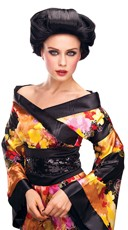Geisha Black Costume Wig