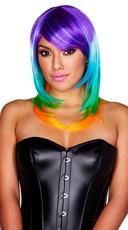 Sexy Neon Rainbow Wig