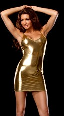 Stretch Metallic Dress